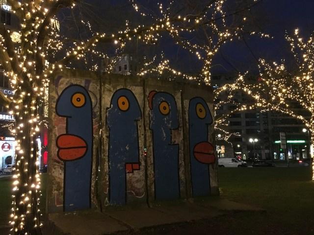 Berlin Wall outside the Berlin Mall