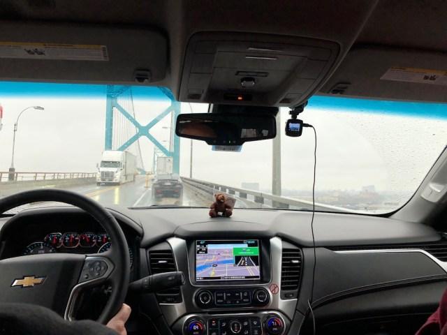 Ambassador Bridge Canada USA border ner Detroit