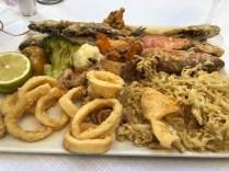 Fried fish platter for 2 at El Pulpito