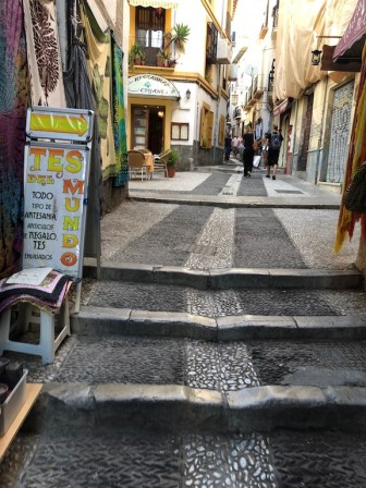 Water channels in the streets of Granada