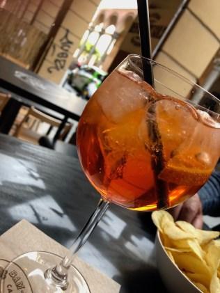 Aperol Spritz was our last drink in Bologna, addio per ora Italy