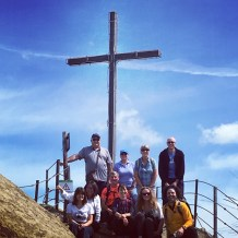 Most of our group at the top of Roccamalatina