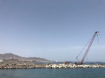 Playa Blanca Harbour Extension with town behind