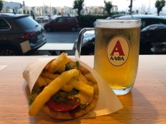 Chicken Souvlaki & Greek Beer