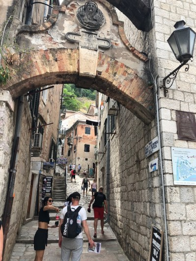 Gate to the Kotor Fortress footpath