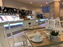 Plenty of tables either inside or al fresco on the terrace for breakfast / dinner