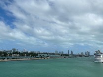 View to Miami from NCL Sky in the cruise terminal