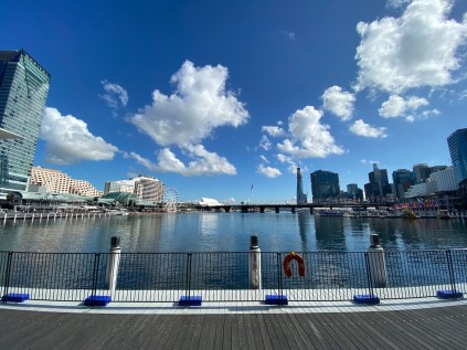 Darling Harbour with restaurants & attractions