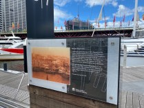 Information board about Market Wharf