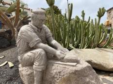 Ajuy fisherman sculpture