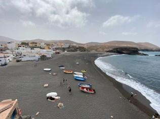 Black beach at Ajuy