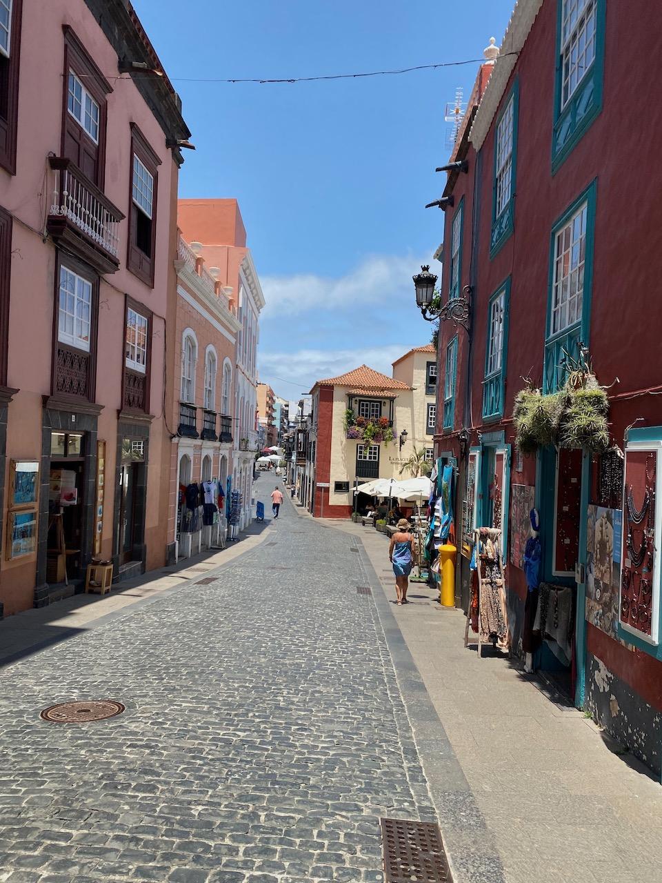 Cobbled streets in La Palma