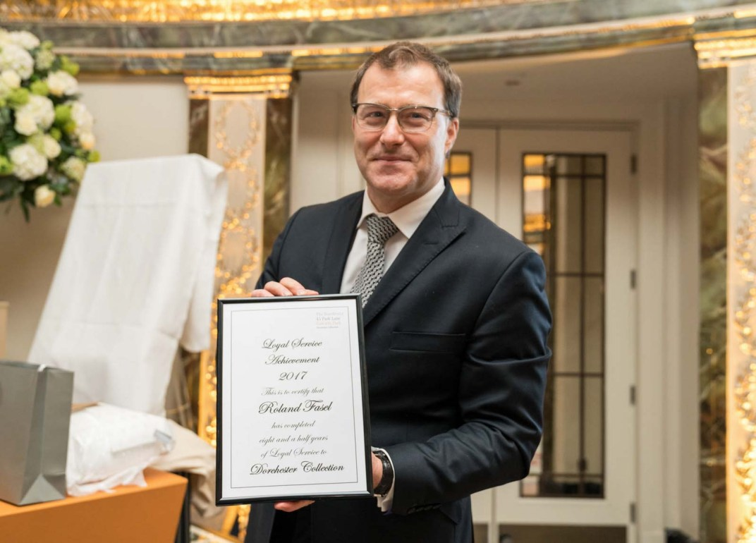 long-service award dorchester hotel photography