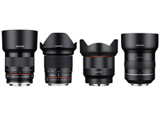 サムヤン「XP85mm F1.2」「AF14mm F2.8 FE」「20mm F1.8 ED AS UMC」「35mm F1.2 ED AS UMC CS」を発売開始。