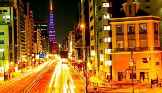 東京タワーをバックに軌跡を撮ってみました