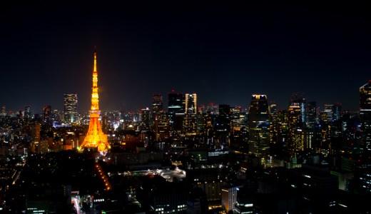 夜の東京 世界貿易センタービル展望台にて撮影