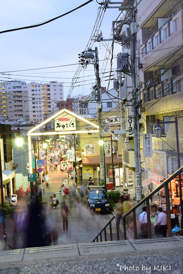 夕焼け谷中銀座商店街