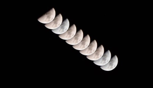 月の軌跡 インターバル撮影をしてみました