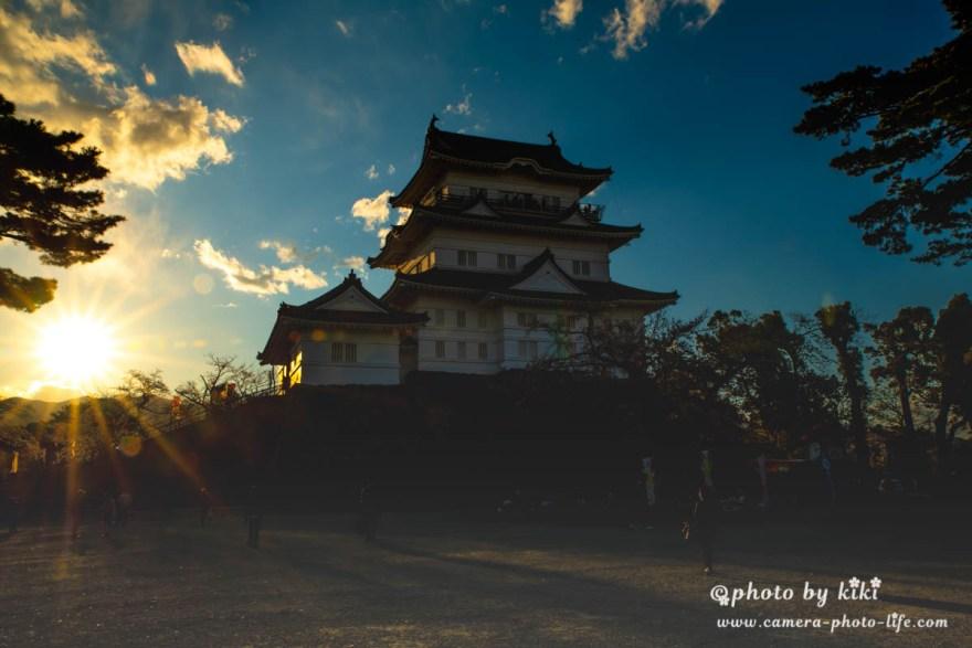 日没前の小田原城