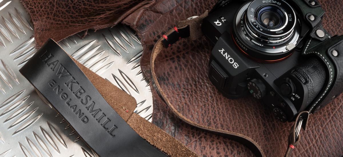Hawkesmill Westminster Leather Camera Strapギターストラップみたいなカメラストラップ