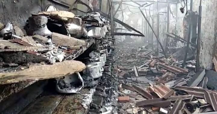 सेना के कैंटीन में लगी भीषण आग, काबू पाया गया