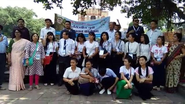 विदिशा पहुंचे मणिपुर के विद्यार्थी एवं प्राध्यापक