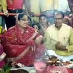 मुख्यमंत्री शिवराज सिंह चौहान विदिशा बाढ़ वाले गणेश मंदिर पहुंचे
