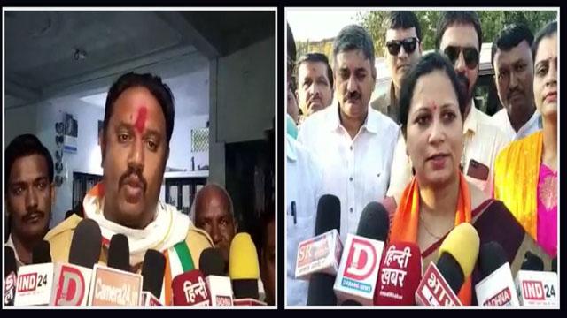 देपालपुर में भाजपा कांग्रेस प्रत्याशी लगातार कर रहे जनसंपर्क