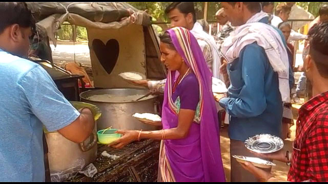 free meal distributed