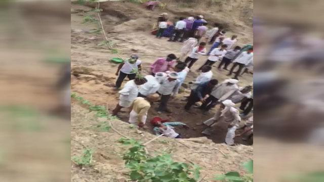 Soil mine Collapse