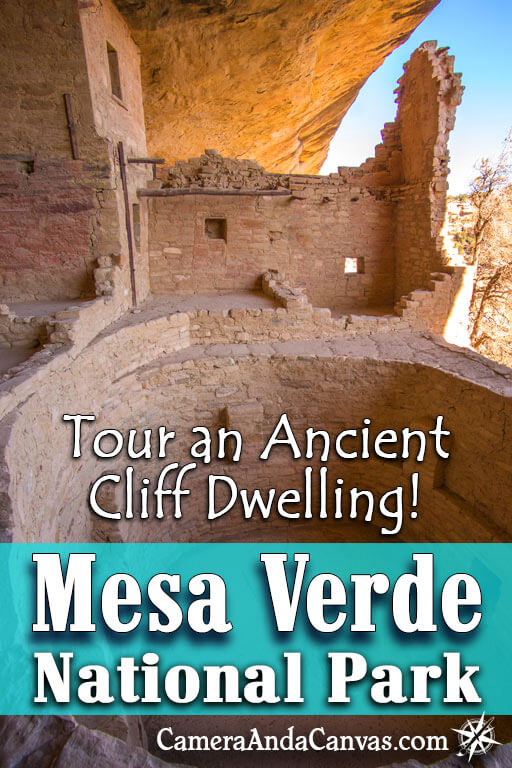 Take a Tour of an Ancient Cliff Dwelling in Mesa Verde National Park! Balcony House is an amazing tour to go on, you have to climb a 32 foot ladder to get up to the dwelling, and there are amazing views from the balcony once you're up there! It's located on Chapin Mesa in the park and is a very affordable tour to go on.