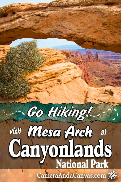 Canyonlands National Park is located just outside of Moab, Utah. Mesa Arch Trail is an easy hiking trail that's an abosolute must do if you go there! It's set in a beautiful desert landscape with views for hundreds of miles at the rim. If you're looking for things to do definitely try this trail! #Canyonlands #CanyonlandsNationalPark #NationalParks #MesaArch #hiking #Moab #Utah