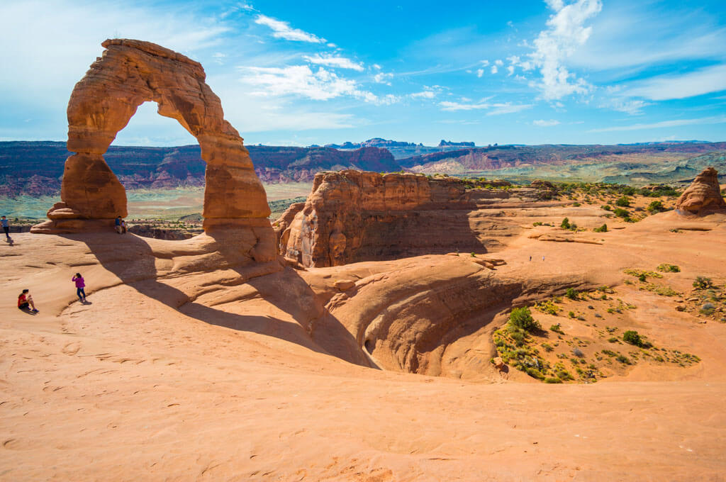 Hiking to Delicate Arch in Arches National Park