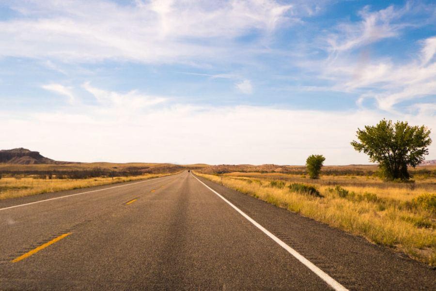 open road in Utah route 24