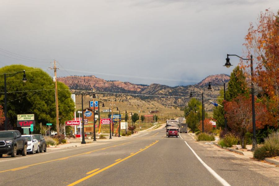 Entering Tropic on Utah Scenic byway 12