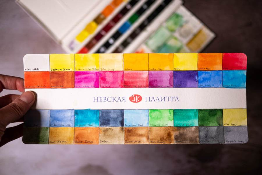 White Nights watercolor chart