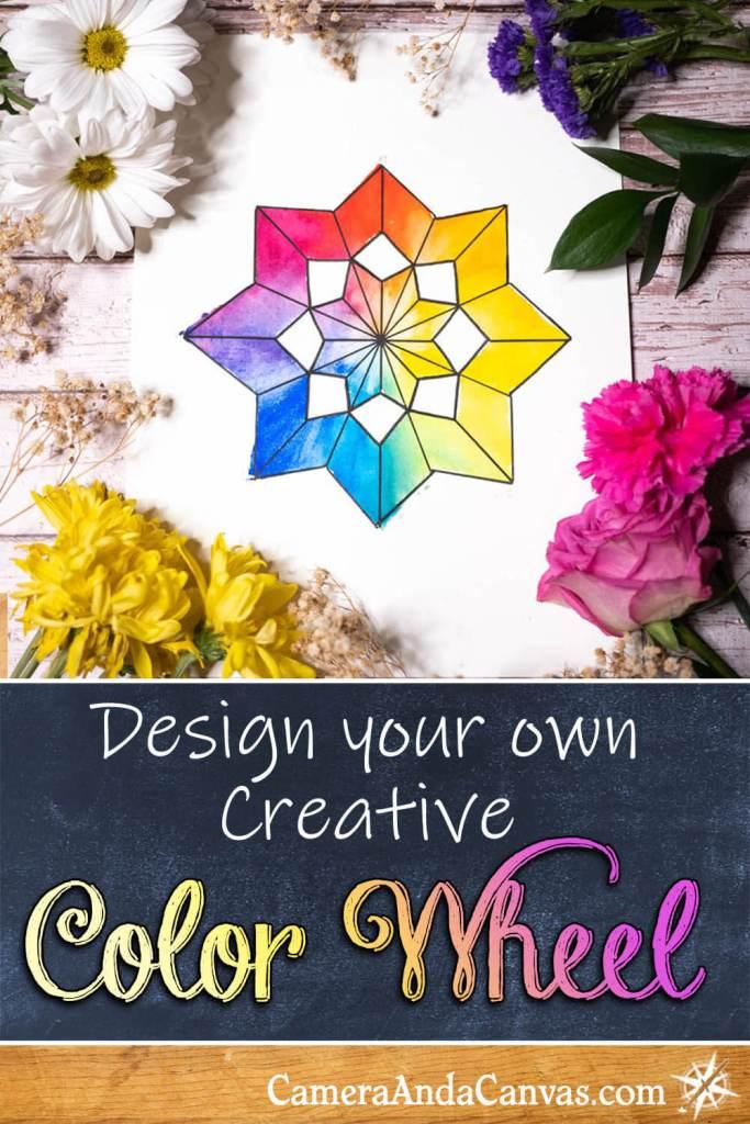 Creative watercolor color wheels