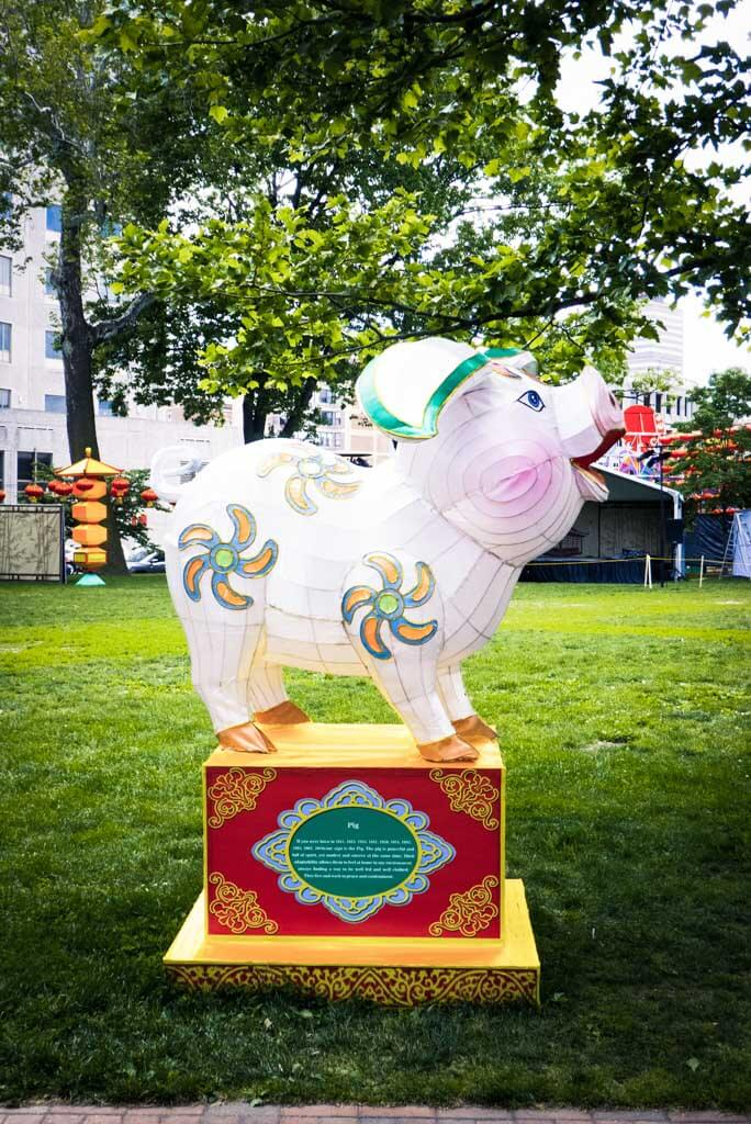 Chinese Lantern Festival 2017, Franklin Square, Philadelphia. Year of the Pig.