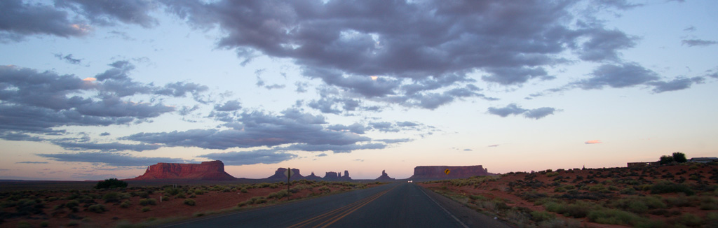Monument Valley View at Sunset