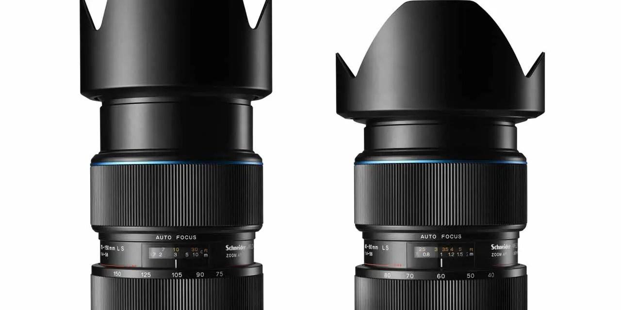 Phase One launches Schneider Kreuznach 40-80mm LS f/4.0-5.6, 75-150mm LS f/4.0-5.6 lenses