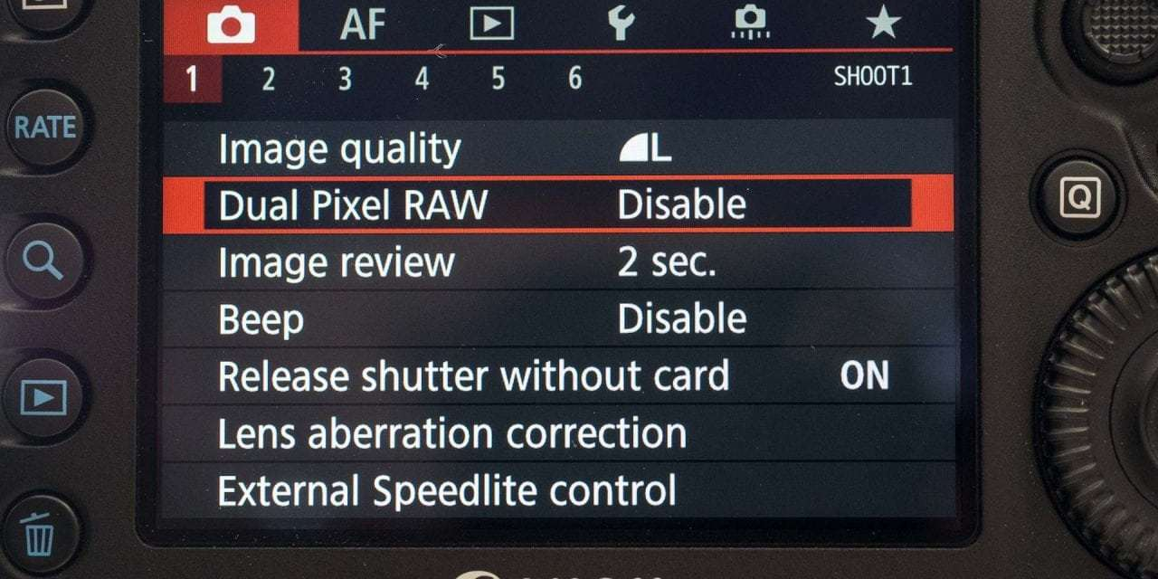 Testing the Canon 5D Mark IV Dual Pixel Raw