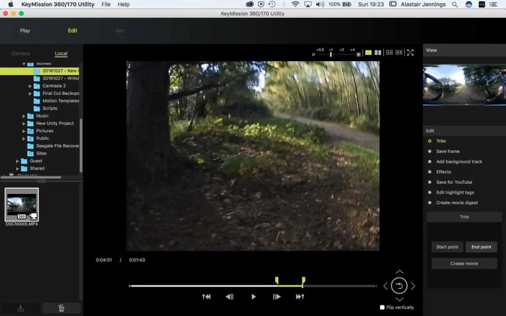 Nikon KeyMission 360/170 Utility - Set out point