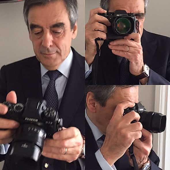 French presidential candidate stops interview, asks 'Is that the Fuji X-T2?'