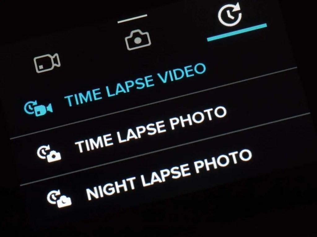 GoPro Hero5 Time Lapse Video screen