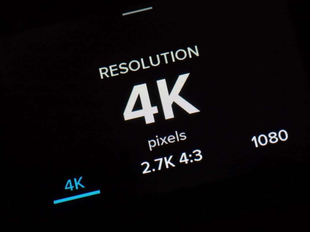 GoPro Hero5 Time Lapse resolution screen