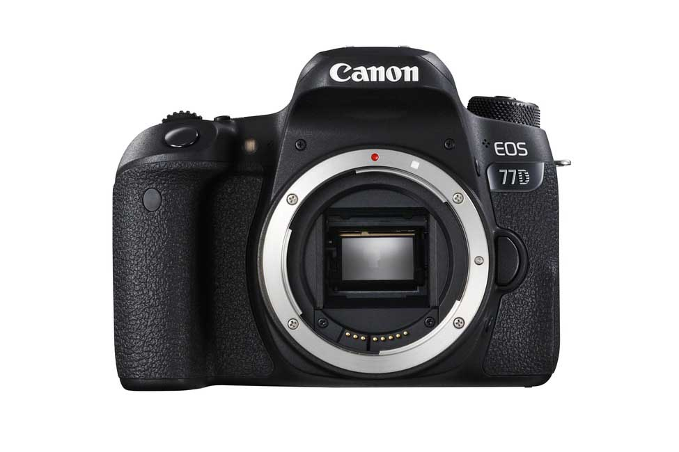 Canon 77D Review: Front of camera