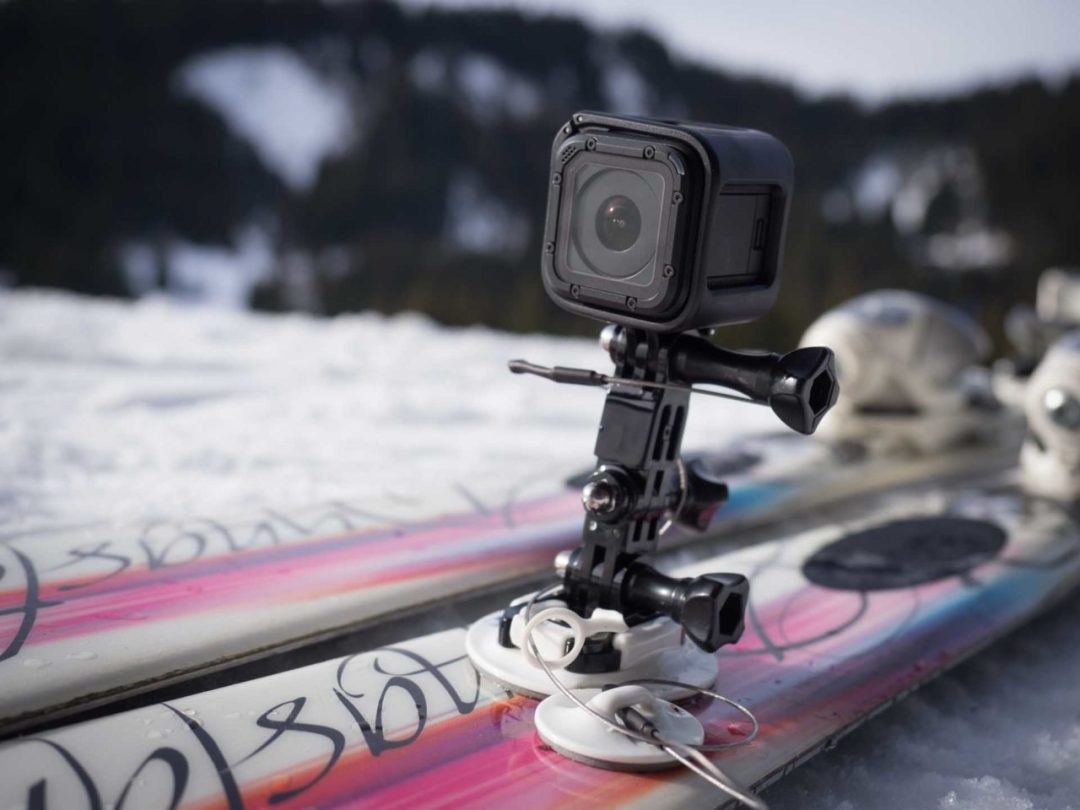 Where to mount a GoPro for skiing
