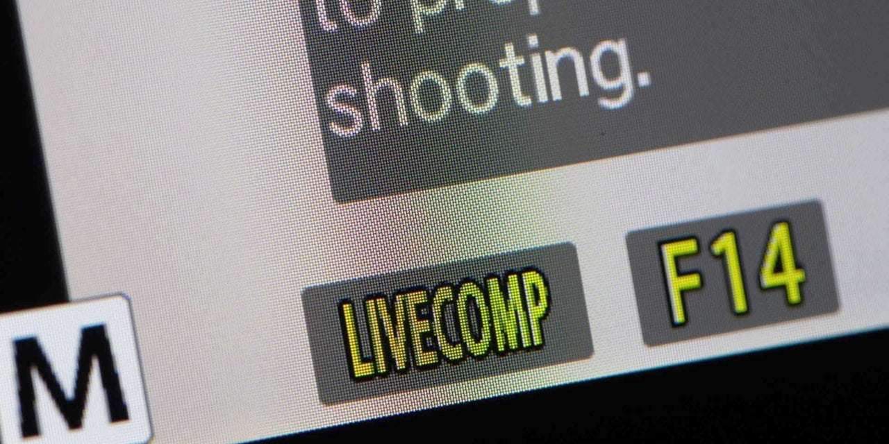How to use Olympus Live Composite mode