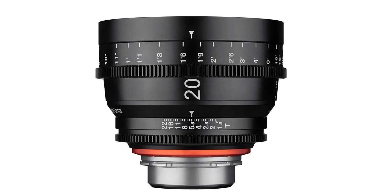 Samyang debuts XEEN 20mm T1.9 cine lens
