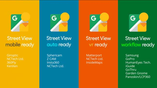 Google's certified Street View cameras